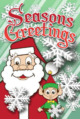 Seasons Greetings Santa Claus Card Greeting Card