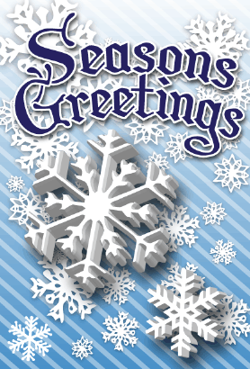 Seasons Greetings Snowflakes Card Greeting Card