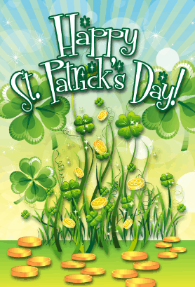 Shamrocks St Patrick's Day Card Greeting Card