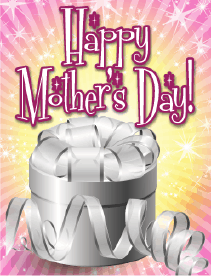 Silver Box Small Mother's Day Card Greeting Card