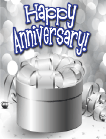 Silver Gift Small Anniversary Card Greeting Card