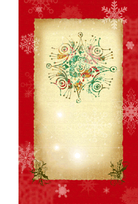 Snowflake Holiday Card Greeting Card