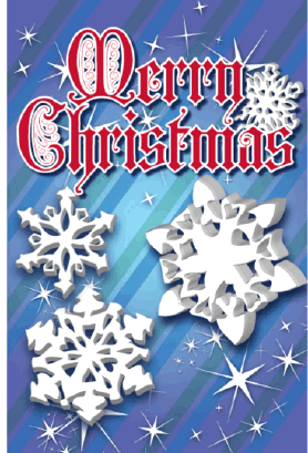 Snowflakes Christmas Card Greeting Card