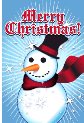 Snowman Christmas Card Greeting Card