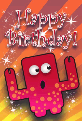Spotted Monster Birthday Card Greeting Card