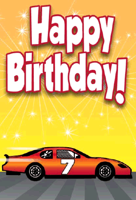 Stockcar Racecar Birthday Card Greeting Card