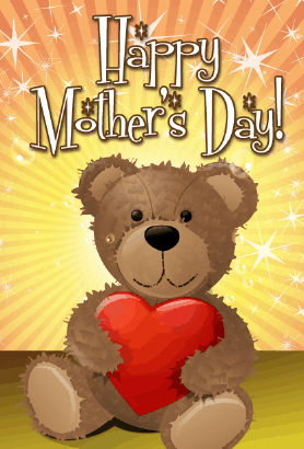 Teddy Bear Mother's Day Card Greeting Card