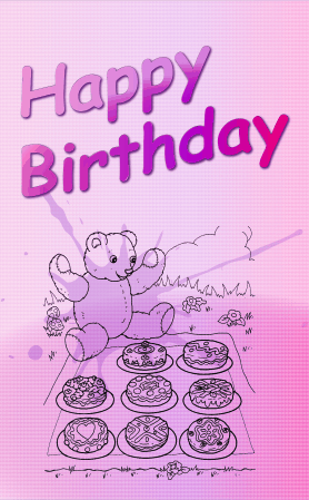 Teddy Bear Picnic Birthday Card Greeting Card
