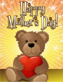 Teddy Bear Small Mother's Day Card Greeting Card