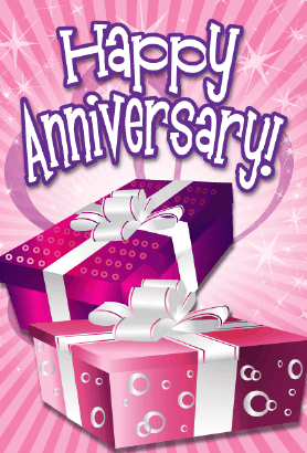 Two Gifts Anniversary Card Greeting Card
