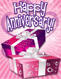 Two Gifts Small Anniversary Card Greeting Card