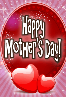 Two Hearts Mother's Day Card Greeting Card