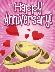 Two Rings Small Anniversary Card Greeting Card