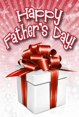 White Gift Father's Day Card Greeting Card