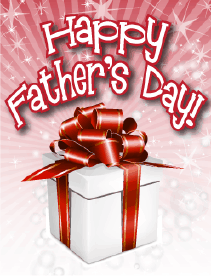 White Gift Small Father's Day Card Greeting Card