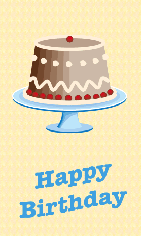 Yummy Cake Birthday Card Greeting Card