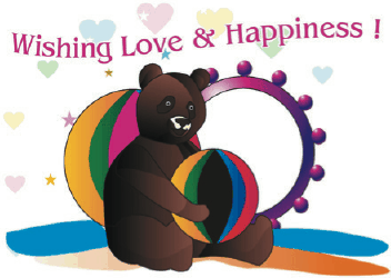 Anniversary Card with Bear Greeting Card