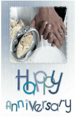 Anniversary Card with Hands Greeting Card