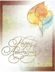 Elegant Anniversary Card (small) Greeting Card