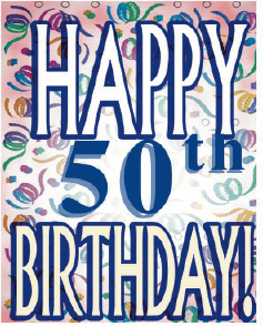 Birthday Card 50 Years Small