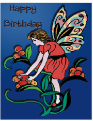 Birthday Card with Fairy (small) Greeting Card