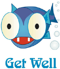 Get Well Card with Fish (small) Greeting Card