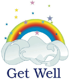 Get Well Card with Rainbow (small) Greeting Card