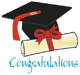 Graduation Card with Diploma and Mortarboard Greeting Card