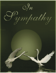 Sympathy Card with Birds (small) Greeting Card