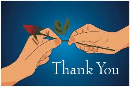 Thank You Card with Rosebud Greeting Card