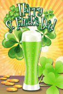 Green Beer St Patrick's Day Card greeting card