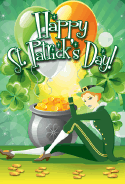 Lady Leprechaun St Patrick's Day Card greeting card