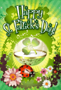 Ladybug St Patrick's Day Card greeting card